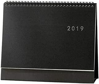 [New] MultiBey Desk Calendar Gold/Silver Foiled 2019 Black Board Steel Coil Spiral 2018 Monthly Agenda Desktop Business Planner (Black Cover)