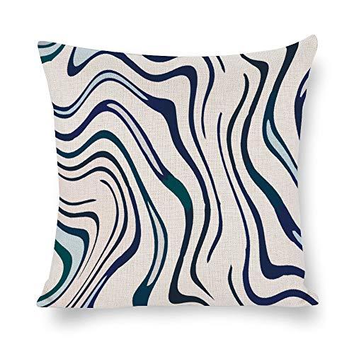 N/ A Animal Skins - Funda de cojín decorativa para sofá, diseño abstracto de cebra, Lino, Como se muestra en la imagen, 26x26 inch