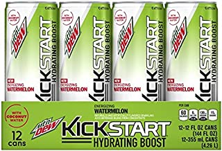 Mountain Dew Kickstart Hydrating Boost, Watermelon, 12 Ounce (Pack of 12)
