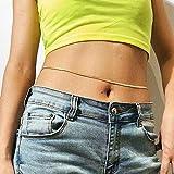 Sethain Boho Catena in vita Oro Catene da cintura Bikini Catene Di Pancia Accessori per il corpo Gioielli per donne e ragazze