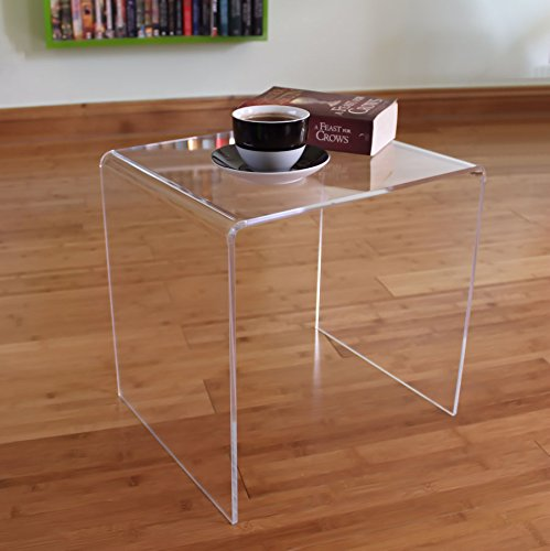 Plastic Online Ltd Premium Acrylic Perspex Side End Table (Clear)