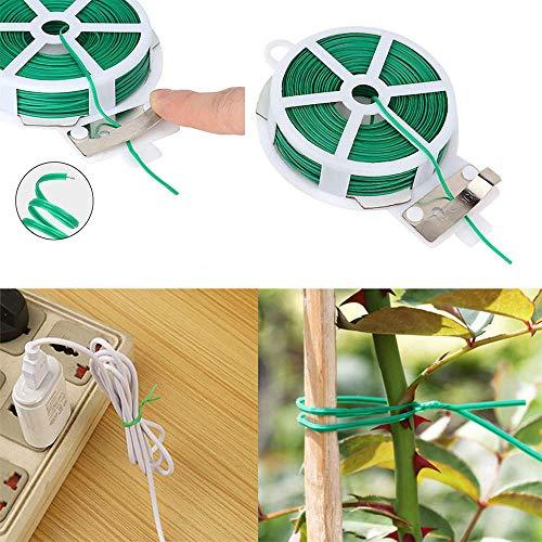 ddmlj 20/30 / 50M Plante De Jardin Clips De Greffage De Légumes Attache Vignes Boucle Attachée Crochet D'Arrimage Fixe Clip De Serre Agricole-30M