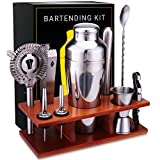 Bar Set 11-Piece Mixology Bartender Kit - Cocktail Shaker Set Bar Tool Set for Home and Professional Bartending - Martini Shaker and Drink Mixing Bar Tools - Cocktail Kit with Bar tools, Recipe Bonus