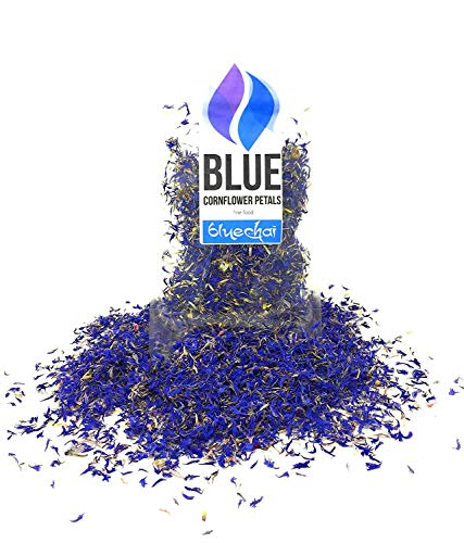 Pétalos De Aciano Azul Puro (Centaurea Cyanus - Aciano, Scabiosa, Azulejo, Pincel) - Flores De Hierbas Naturales Para La Producción De Mezclas De Té Caseras Y Sales De Baño