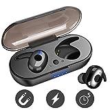 FEALING Auriculares Bluetooth, Auriculares Inalámbricos 5.0, In-Ear Deportivos Impermeables Auriculares con Cargador portátil, Reducción de Ruido Estéreo 3D Auriculares