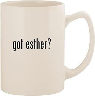 got esther? - White 14oz Ceramic Statesman Coffee Mug Cup