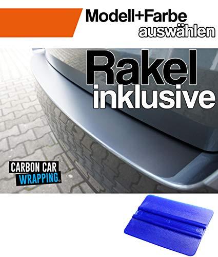 CCW – Carbon Car Wrapping - Ladekantenschutz + Profi-Rakel kompatibel für den Seat Ibiza ST 6J Kombi ab Bj. 2010–2012 in Matt Schwarz - passgenaue Lackschutzfolie, Auto Schutzfolie, Steinschlagschutz