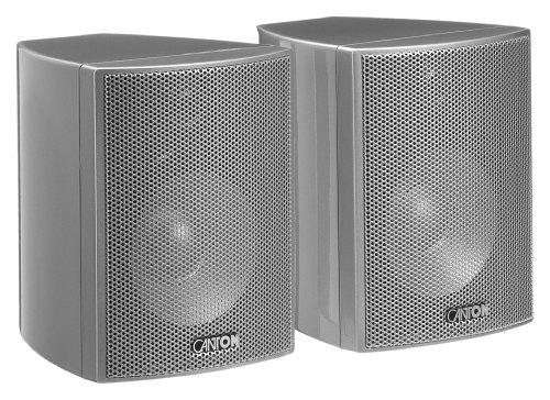 Canton Plus MX.2 2-Wege Regallautsprecher (40/70 Watt, 85 dB) Paar Silber