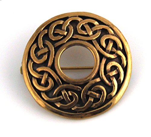 Vintage brooches Bronze Norse Celtic Knot Engraved Thailand Jewelry (Brooch V.1)