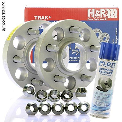 Preisvergleich Produktbild H&R DRM Spurplatten Spurverbreiterung Distanzscheibe 5x108 40mm / / 2x20mm + Bremsenreiniger