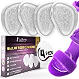 Ballotte Ballenpolster– Gelkissen gegen Fußschmerzen – Fußballenpolster-Geleinlagen für Metatarsalgie, Hornhaut, Blasen – Einlegesohlen für High Heels