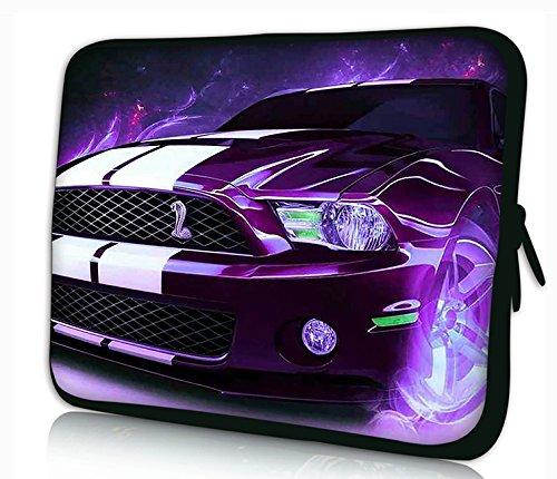 'Maletín Funda Portátil portátil 15'–15.6pulgadas Caso neopreno para portátiles Dell HP MacBook Samsung Apple Toshiba * Purple Car *