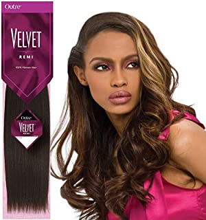 Outre Velvet Remi 100% Human Hair - Yaki Weaving 18