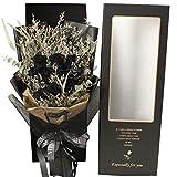 ZYM Flores preservadas en Caja Black Rose Conserved Flower Caja de Regalo Preservada Real Rose Esposa Novia Día de San Valentín Navidad Regalo Fino Caja Flores Artificiales (Color : Black)