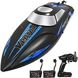 YLEI 25 km/h High Speed RC Boot, 2.4 Ghz wasserdichte Ferngesteuertes Boot Schnellboot, Wasserkühlung, Selbstaufrichtfunktion, für Jungen & Mädchen