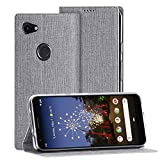 Eastcoo Google Pixel 3A Hülle,Pixel 3A Wallet Handyhülle PU Leder Flip Hülle Tasche Cover Schutzhülle mit [Standfunktion][Magnetic Closure][Card Slots] für Google Pixel 3A Smartphone(Pixel 3A,Grau)