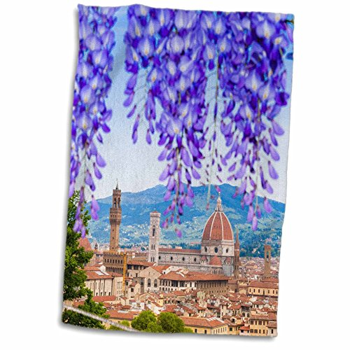 3D Rose City Center of Florence-Firenze-UNESCO-Tuscany-Italy Hand Towel, 15' x 22'
