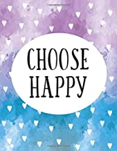 Free Download Ebooks Choose happy :Gratitude quote journal, 110 unlined pages,8.5x11 in,Purple blue heart: Quote journal to write in your wisdom thoughts, plan,and ideas for life/ business /office /student/ teacher