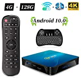 Android 8.1 TV Box H96 Max Smart TV Box 4 GB + 32 GB 4 K Ultra HD TV Box Amlogic S905X2 processore Quad Core/2.4 + 5,8 GHz WiFi/LAN 1000 M/H.265/Bluetooth 4.0