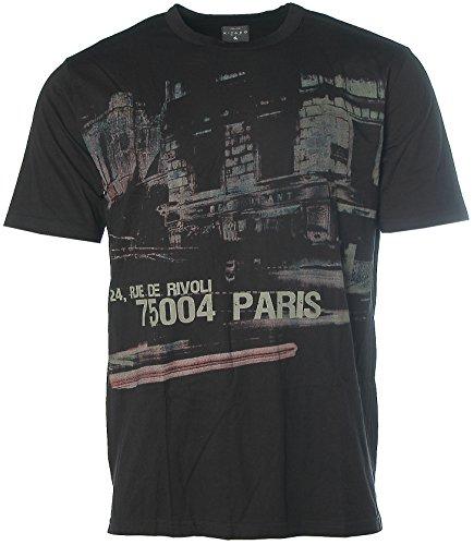 Kitaro Herren T-Shirt -24, RUE DE Rivoli 75004 Paris- Schwarz L