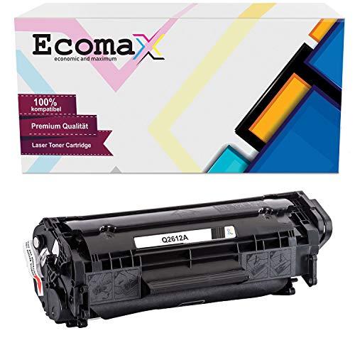Ecomax XXL Toner kompatibel zu HP Q2612A 12A für HP LaserJet 1010 1012 1015 1018 1020 1022 3052 3055 M1005MFP M1319F - Schwarz 3.000 Seiten