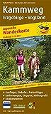 Kammweg Erzgebirge – Vogtland: Leporello Wanderkarte mit Ausflugszielen, Einkehr- & Freizeittipps, Straßennamen, wetterfest, reißfest, abwischbar, GPS-genau. 1:25000 (Leporello Wanderkarte: LEP-WK)