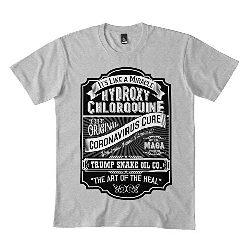 Parody Vintage Label for hydroxychloroquine as a Cure for c-oronavirus. Classic t Shirt DMN10 Long Sleeve T-Shirt - Hoo Black