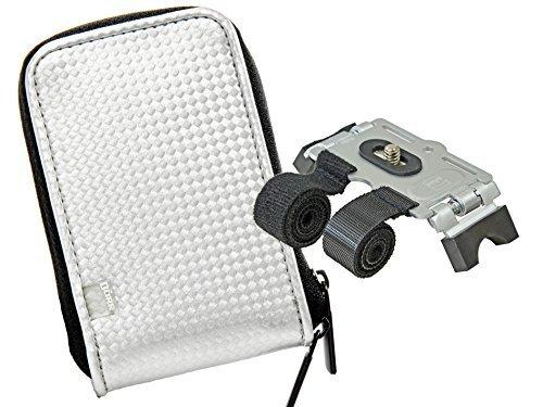 Cámara de Fotos Funda Retro Case Blanco Set con Velcro de trípode...