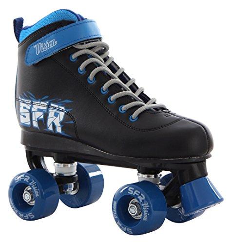SFR Vision II Roller Quad Skate Black/Blue UK6/EU39.5