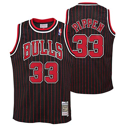 Mitchell & Ness Scottie Pippen #33 Chicago Bulls 1995-96 Youth Swingman NBA Trikot Pinstripe, XL (YTH)
