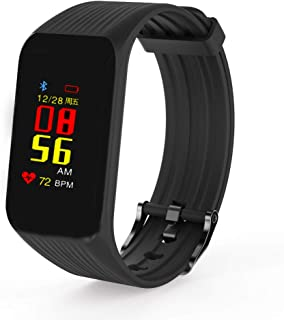 Fitness Activity Tracker Smart Bracelet Fitness Watch Heart Rate Blood Oxygen IP67 Water Resistant Smart Wrist Bracelet for Pedometer Women iOS Android Smartphone (Black)