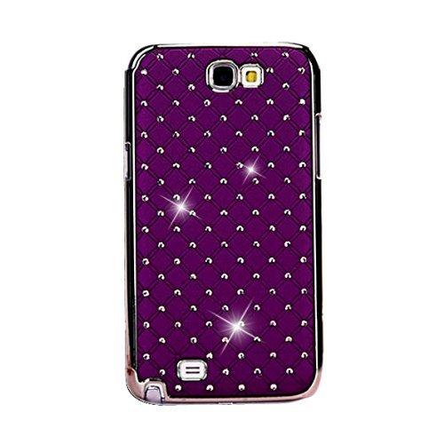 Mavis's Diary - Cover protettiva posteriore rigida con strass, lustrini, cristalli e diamanti, per Samsung Galaxy Note 2 N7100, colore: Lilla