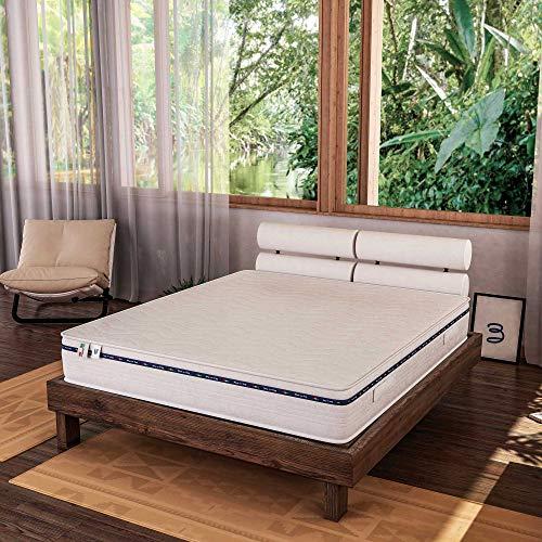 Baldiflex Emporio Materasso Singolo in Memory Foam 80x190 Alto 20 cm Memory 4 cm con Rivestimento Anallergico e Antiacaro, Materasso Amazonia Plus