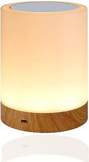 Amouhom lampka nocna LED, możliwość ściemniania, atmosfera, lampa stołowa do sypialni, salonu, przenośna lampka nocna z 28...