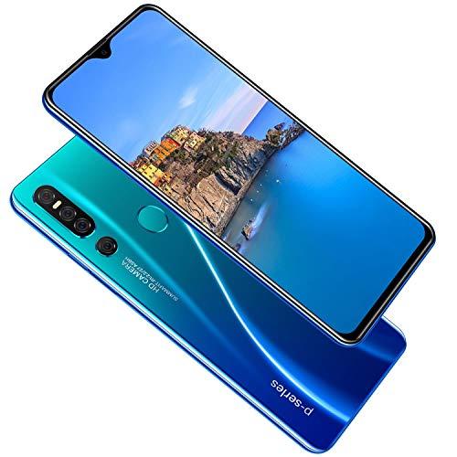 Móviles y smartphones libres Teléfono de desbloqueo de pantalla completa con teléfono inteligente de 6,3 pulgadas y doble tarjeta, 4 + 64GB con doble cámara Celulares y Smartphones Desbloqueados