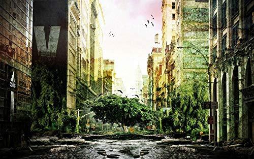 Jigsaws Puzzel,Puzzels De Kracht Van De Natuur In De Stad,Diy Houten Puzzle 1000 Stukjes,Legpuzzels Voor Volwassen Kinderspeelgoed (75 * 50 Cm)