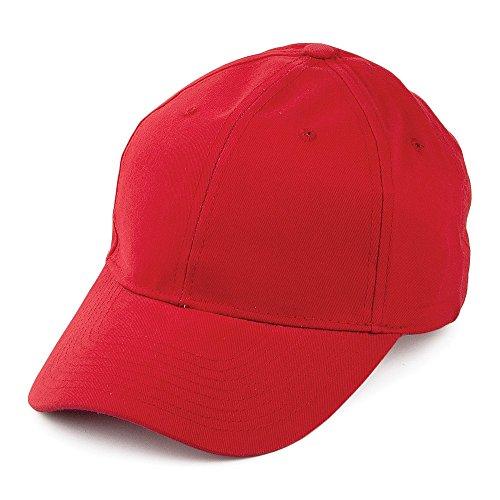 Village Hats Casquette en Coton Brossé Rouge - Ajustable