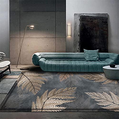 Deco Salon Tapis IKEA Gris Moderne Tapis Arbre Feuille Impression Salon Chambre décoration ne Tombe Pas 200X300CM Tapis Anti Vibration Machine A Laver