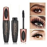4D Silk Fiber Wimperntusche, Extra Long Lash Verlängerung & Volumen Eyelash Mascara Wasserdicht Langlebig Natürlich Augen Make-up Not Blooming