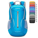 ZOMAKE Ultra Lightweight Packable Backpack, 25L Small Water Resistant Rucksack Foldable Travel Daysack for Men Women Outdoor Hiking (Light Blue)