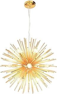 Dellemade DD00892 Sputnik Chandelier Mid-Century 12-Light Golden Pendant Light