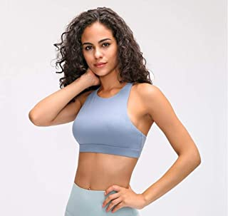 Naked-Feel Fabric Yoga Fitness Bras Top Women Cross Straps Push Up Padded Fitness Workout Sport Brassiere