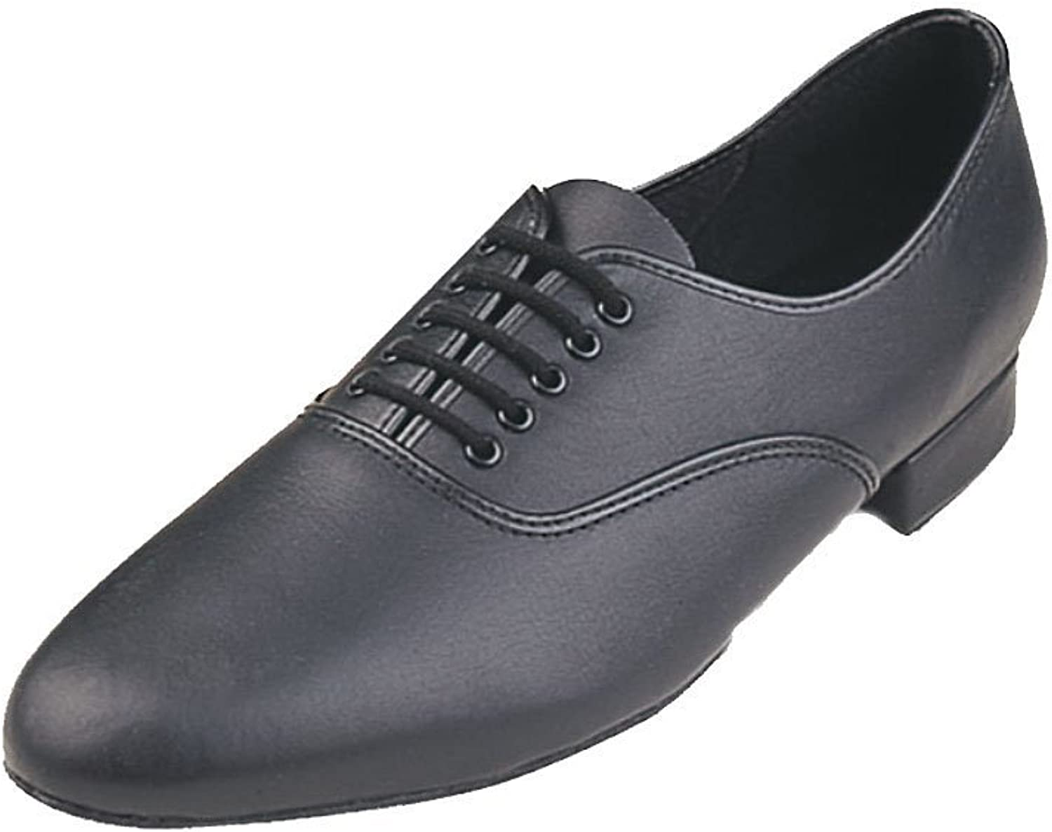 Roch Valley Leather Oxford 1  Heel Mens Ballroom shoes Black (Black, 11)