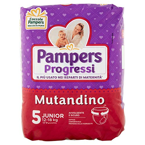 Pampers Progressi Mutandino Junior Größe 5 (12-18kg) 17 Windeln