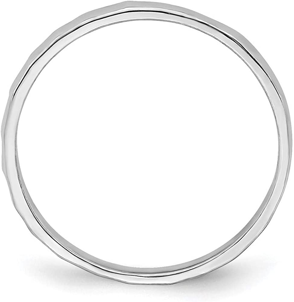 14k White Gold Bamboo Wedding Ring Band Childs Size 3.00 Toe Fine Jewelry For Women Gifts For Her