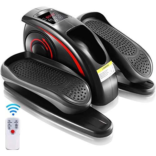 Multifunktions traptreden duurzaam stil voor kantoorhuishouden, indoor mini-pedaaltrainer, onder bureaufiets elliptische machine zwart