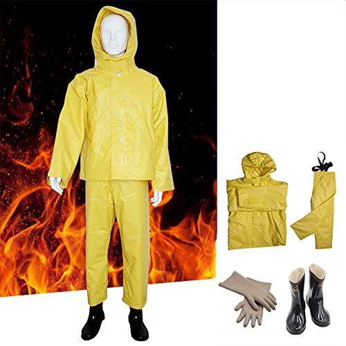 XIONGGG Schutzanzug, Wärmestrahlungsschutzanzüge, Hochtemperatur-Schutzsets Feuerfester Anzug Einfach Zu Bedienen,XL