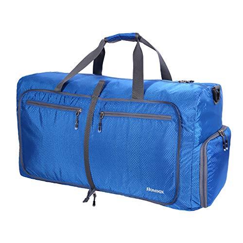 Homdox Foldable Duffle Bag 80L Large Gym Bag for Men Women,Large Camping Duffle Bag Waterproof Lightweight Rolling Sports Bag