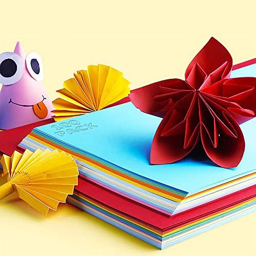 AdoN 100 Blatt farbiges Druckerpapier DIN A4,10 Farben, 80g/m² Kopierpapier farbig, DIY Bedarf