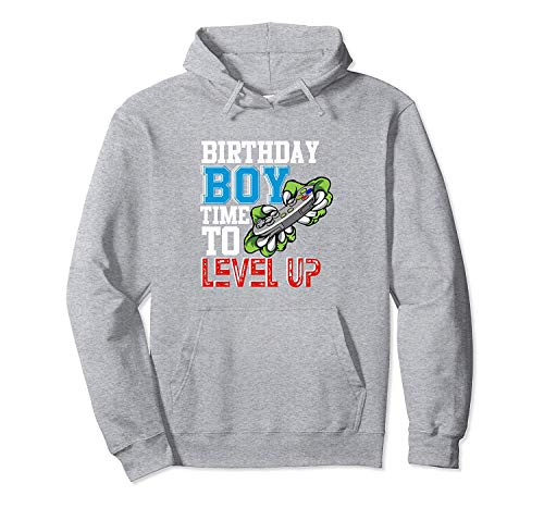 Birthday Boy Time To Level Up Gamer Party Gift for Boy Funny Pullover Hoodie S
